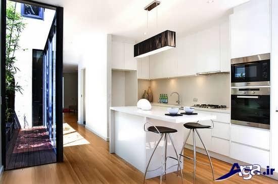 دکوراسیون آشپزخانه زیبا و کوچک