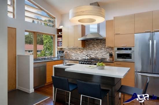 طراحی داخلی آشپزخانه مدرن و کوچک