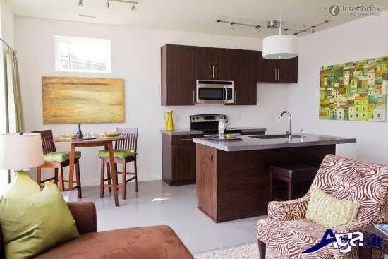 دکوراسیون آشپزخانه کوچک آپارتمانی