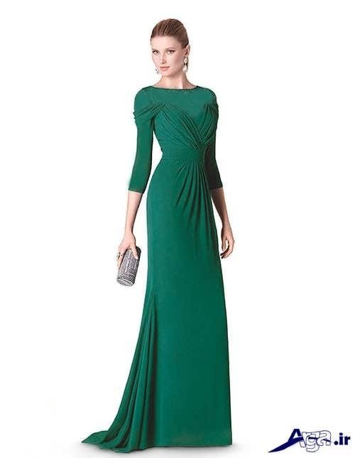 مدل لباس شب سبز ریون