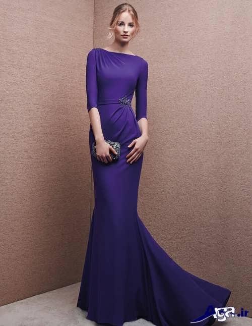 مدل لباس شب بنفش ریون