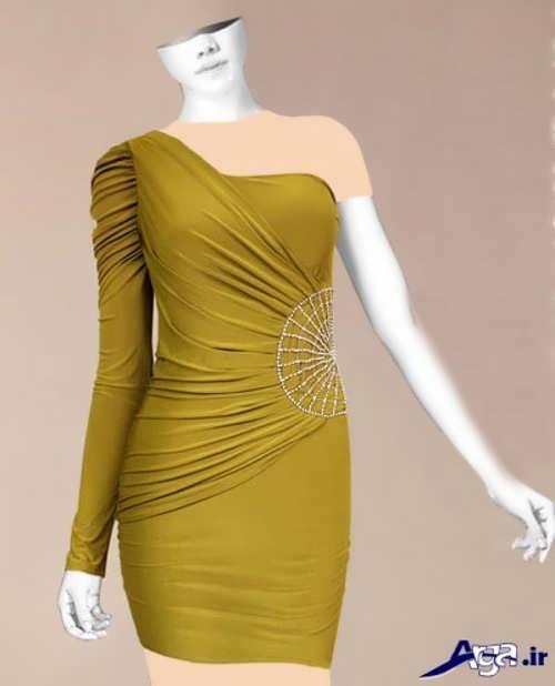 مدل لباس شب کوتاه ریون