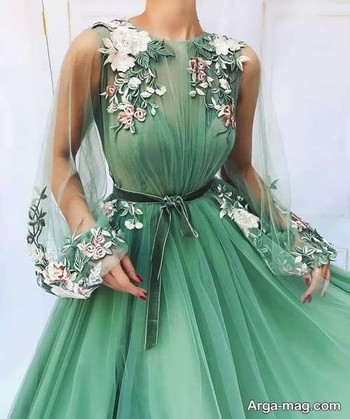 مدل پیراهن فانتزی گلدار