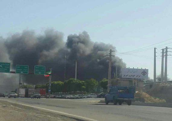 آتش سوزی در ایران خودرو