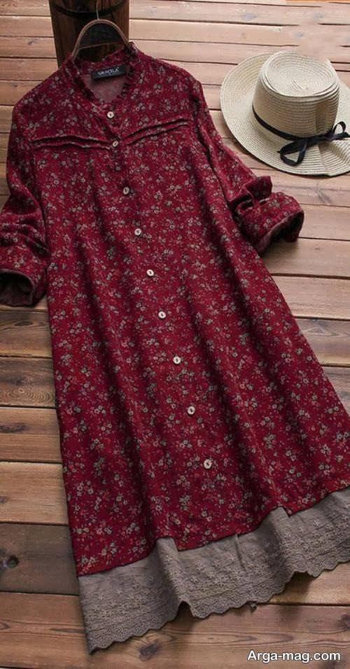 تصاویری از مدل مانتوهای نخی گلدار