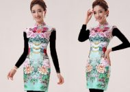 مدل لباس حریر گلدار زنانه و دخترانه