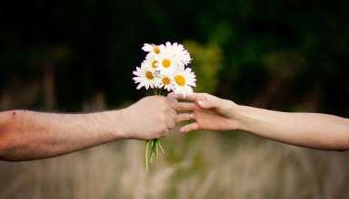 عکس عاشقانه گل دادن