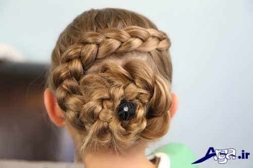 مدل مو بسته دخترانه همراه با بافت مو