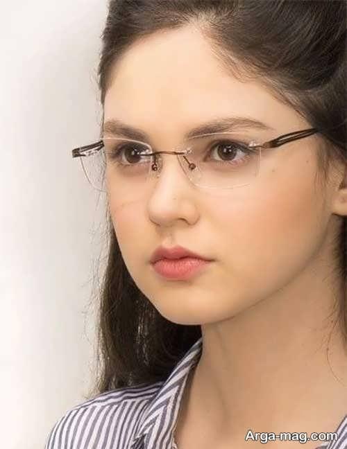 مدل عینک طبی دخترانه ساده
