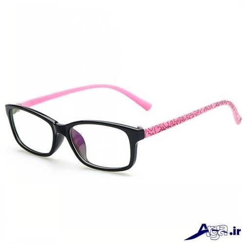 مدل عینک صورتی مشکی دخترانه