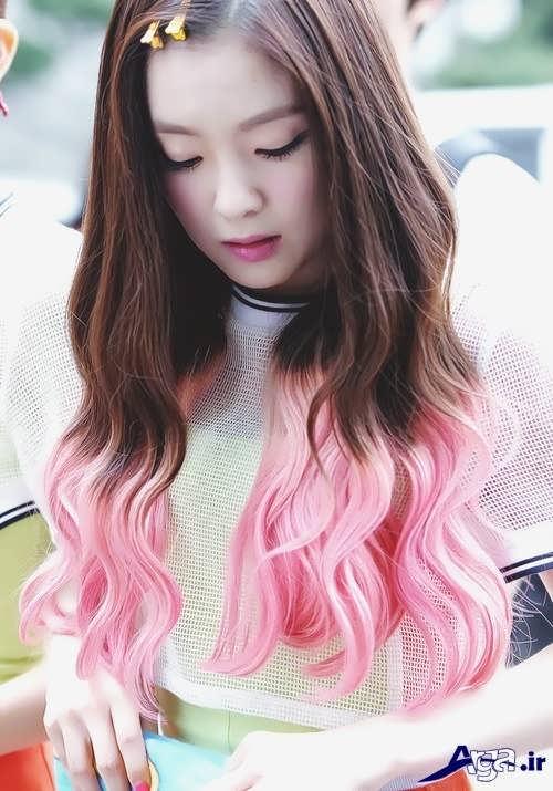 رنگ مو فانتزی دخترانه