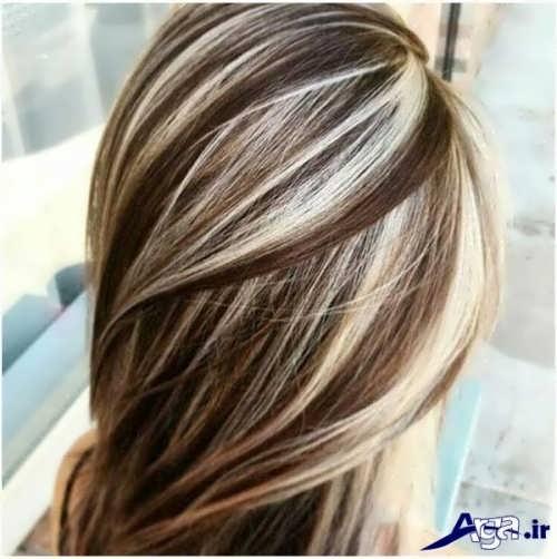 رنگ مو دخترانه با هایلایت