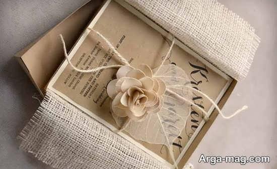 کارتهای عروسی دست ساز زیبا