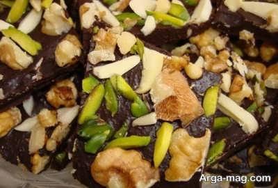 طرز تهیه شکلات تلخ موزاییکی
