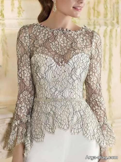 مدل لباس مجلسی دانتل دار زیبا