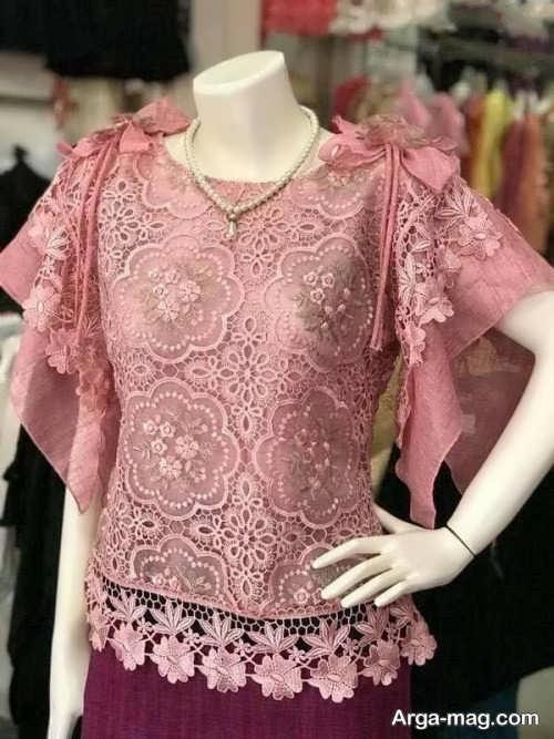 مدل لباس مجلسی دانتل شیک