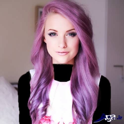 رنگ مو زیبا یاسی