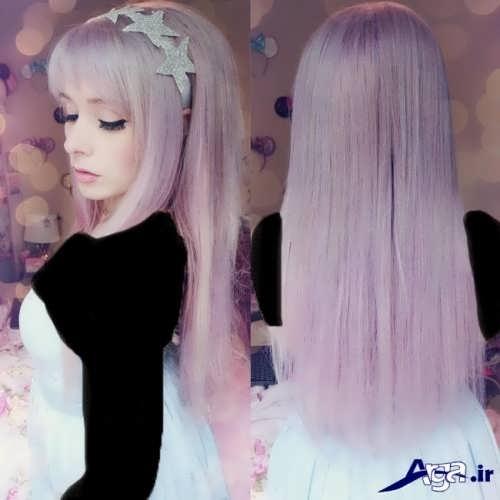 رنگ مو شیک یاسی