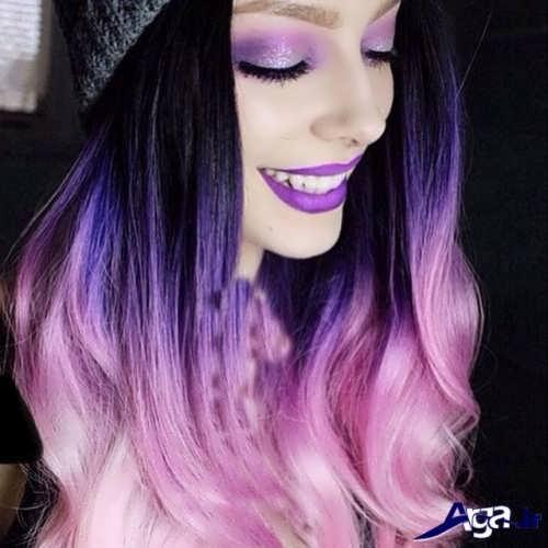رنگ موی یاسی بنفش
