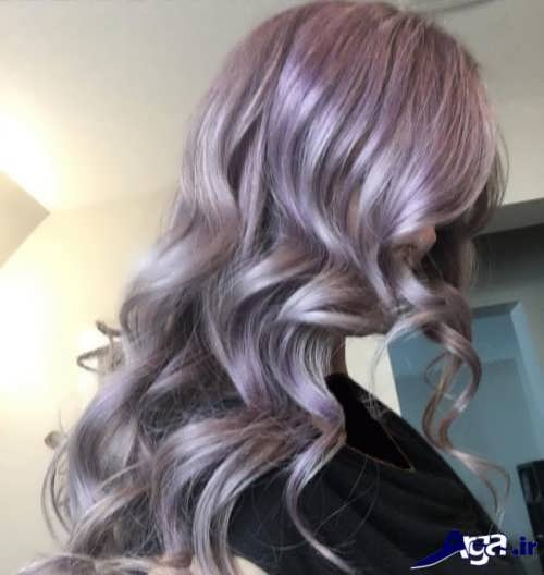 رنگ مو جذاب و متفاوت یاسی