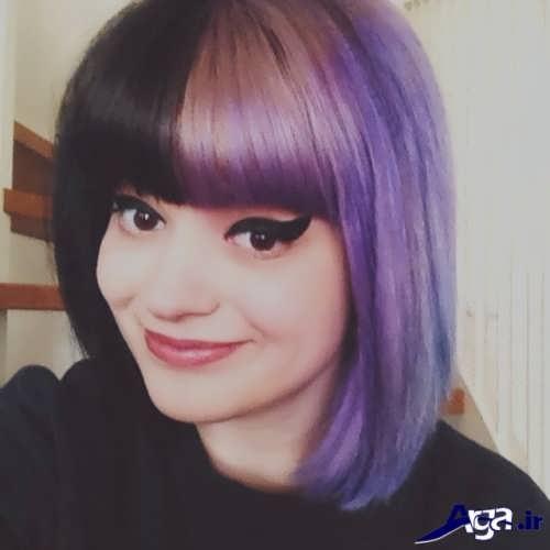 رنگ موی زنانه یاسی