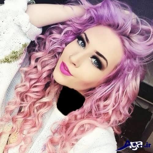 رنگ مو شیک و ترکیبی یاسی