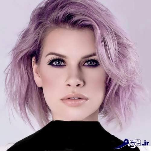 رنگ موی زیبا و شیک یاسی