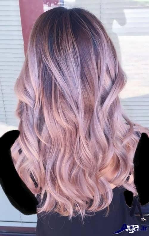 رنگ موی شیک یاسی