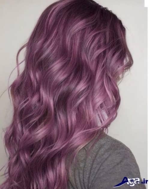 رنگ مو یاسی تیره