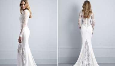 مدل لباس عروس آستین بلند شیک و زیبا