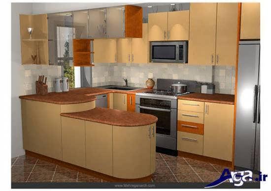 طراحی ودکوراسیون آشپزخانه با مدل کابینت سفید