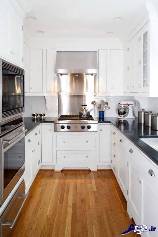 مدل کابینت چوبی آشپزخانه کوچک