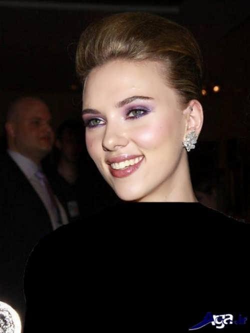 مدل آرایش شیک و زیبا با لباس مشکی