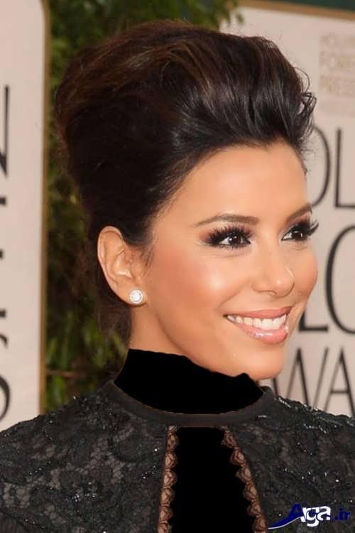 مدل آرایش صورت زنانه با لباس مشکی