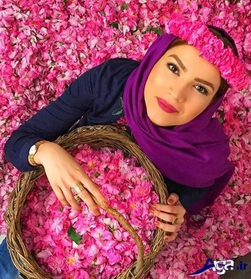 مدل بستن شال متین ستوده