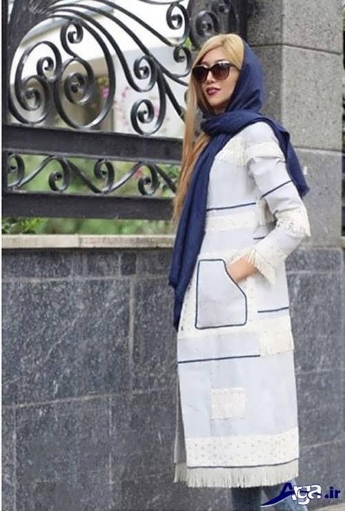 مدل مانتو سفید تابستانی