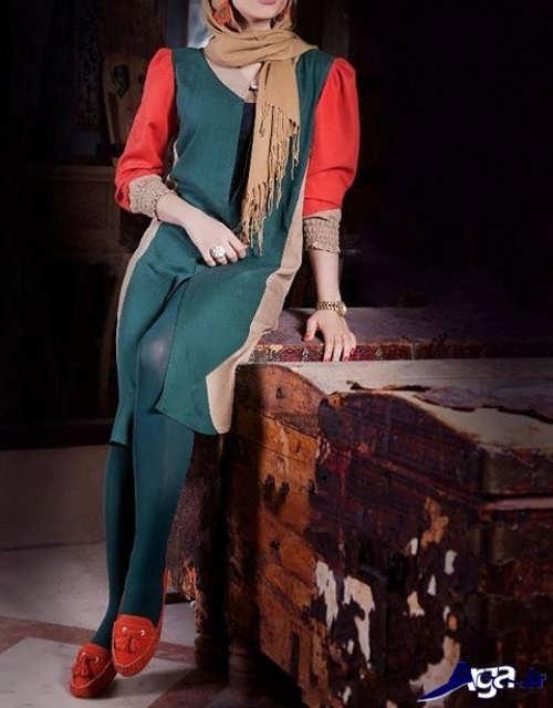 مدل مانتو زنانه سبز تابستانی