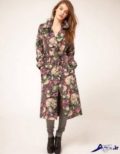 مدل مانتو گلدار زنانه بلند