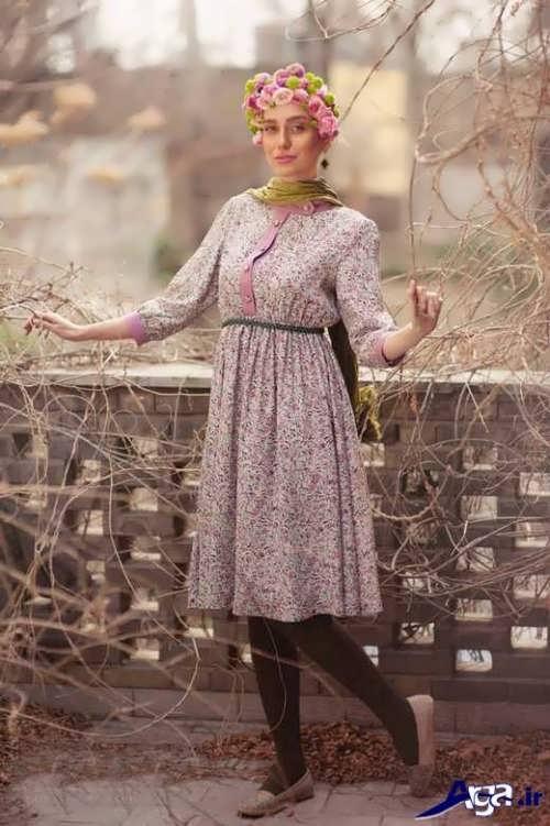 مدل نیم تنه هندی مدل مانتو نخی گلدار جدید با طرح های بسیار زیبا