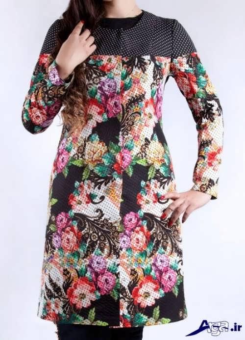 مدل جدید مانتو زیبا 2017 مدل مانتو نخی گلدار جدید با طرح های بسیار زیبا