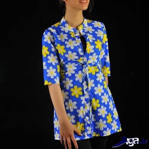 مدل مانتو دخترانه گلدار