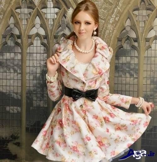 مدل مانتو دخترانه شیک و زیبا گلدار