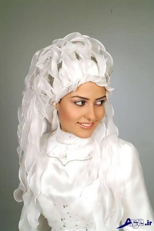 مدل حجاب زیبا و متفاوت عروس