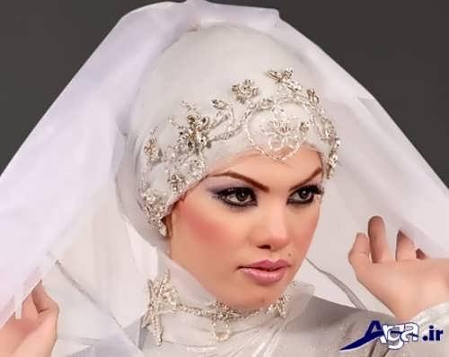مدل حجاب عروس کار شده