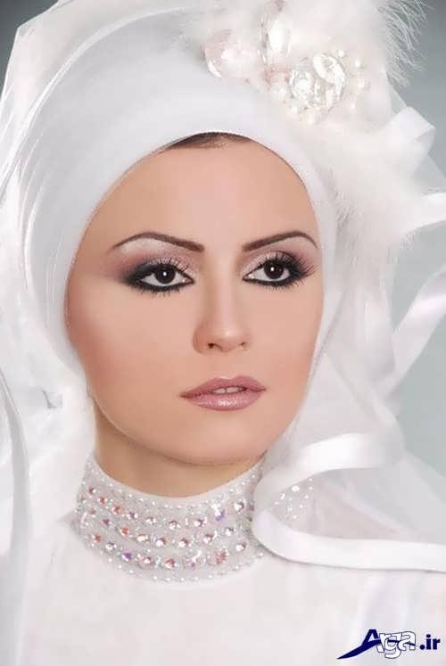 مدل حجاب طرح دار عروس