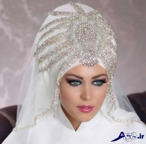 مدل حجاب کار شده با سنگ های تزیینی