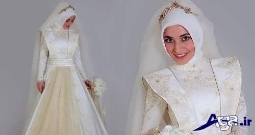 مدل شیک و متفاوت حجاب عروس