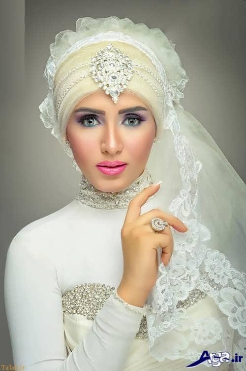 مدل حجاب کار شده و زیبا عروس