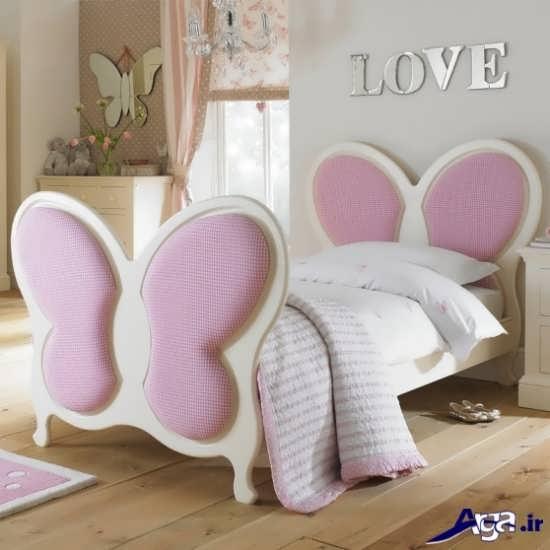 مدل زیباترین تخت خواب کوک دختر