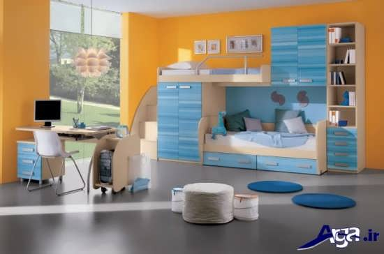 مدل تخت خواب آبی کودک